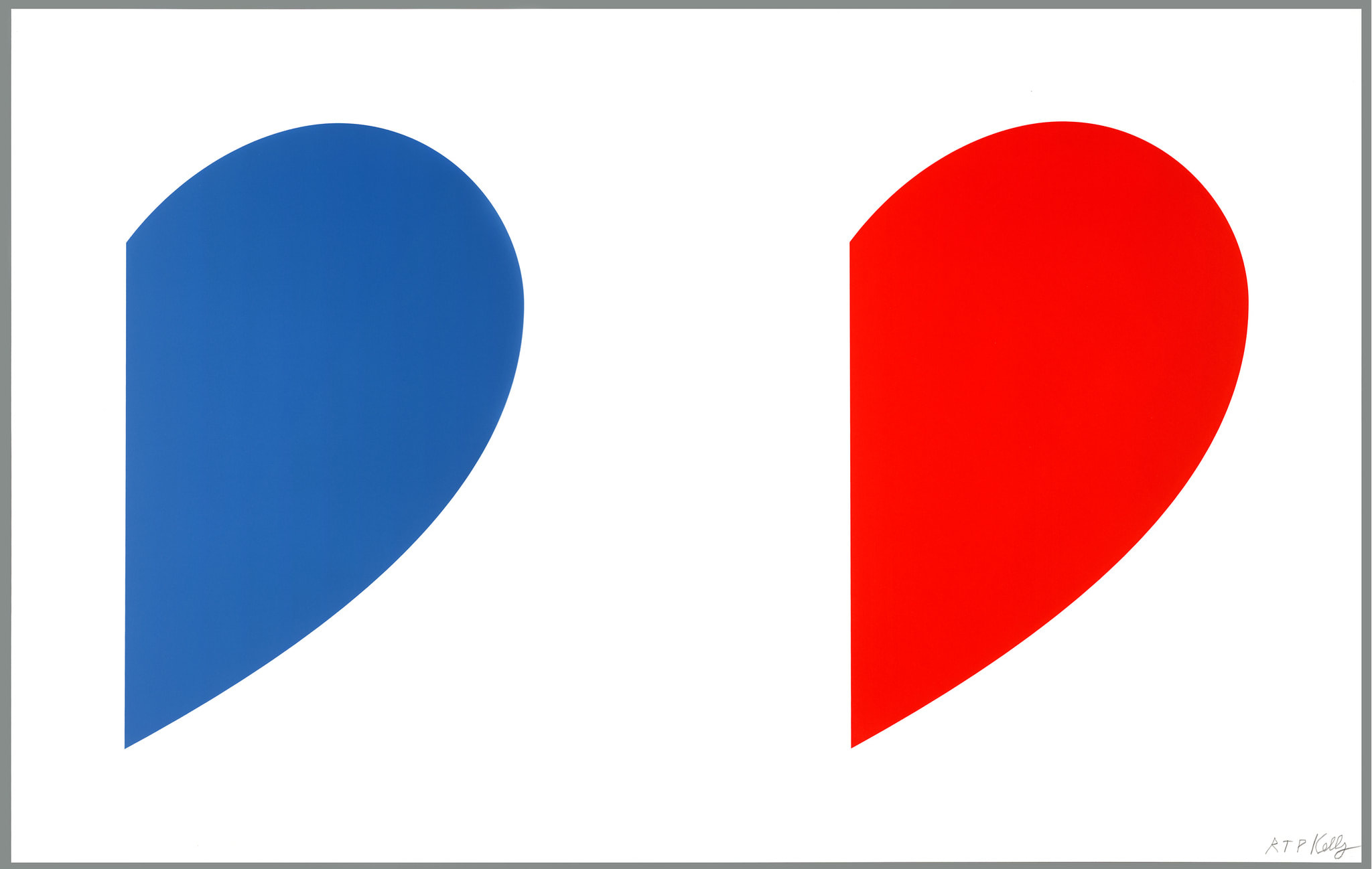 Blue Curve/Red Curve by Ellsworth Kelly