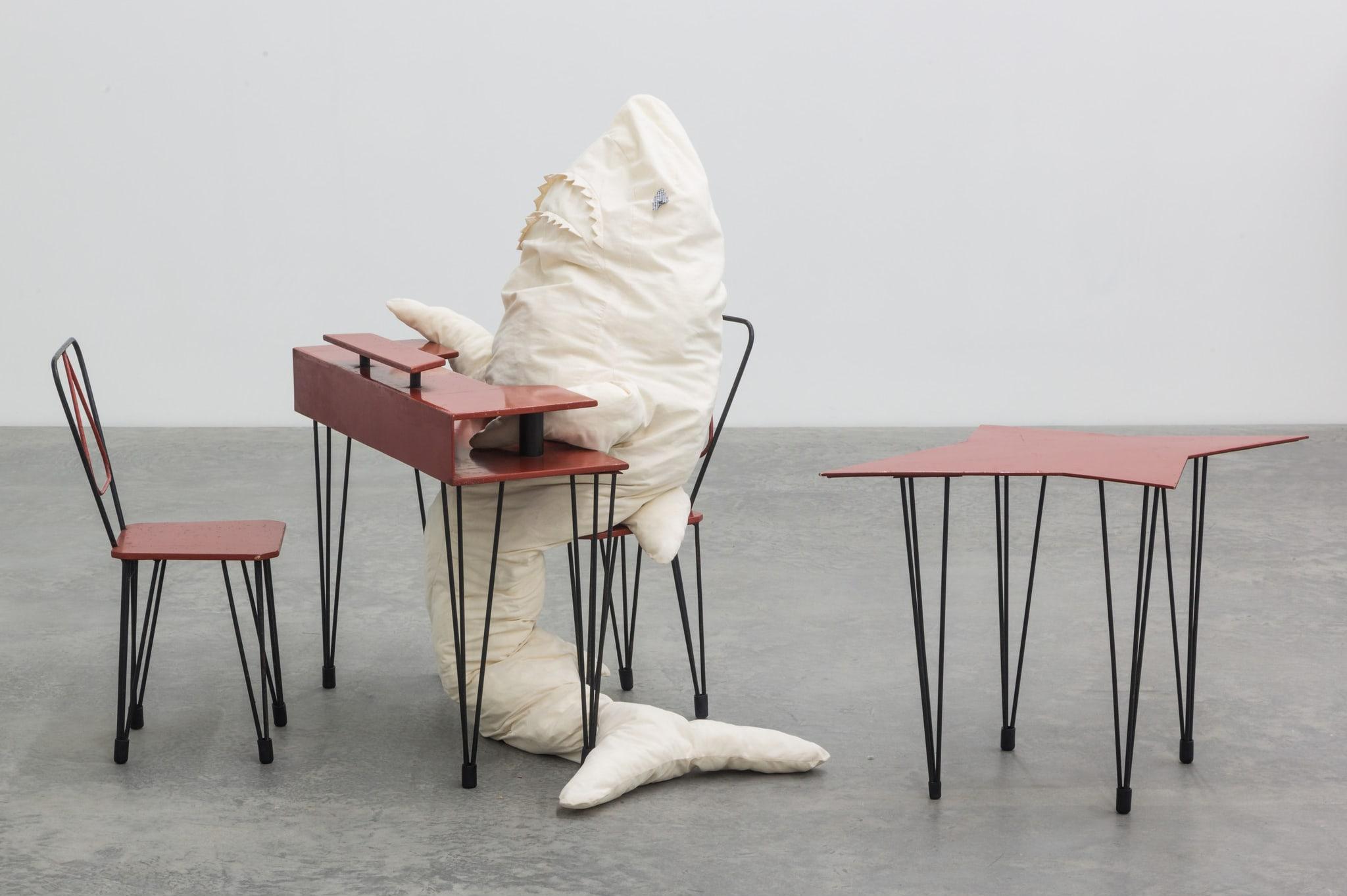 HAI AM TISCH 1 by Cosima von Bonin