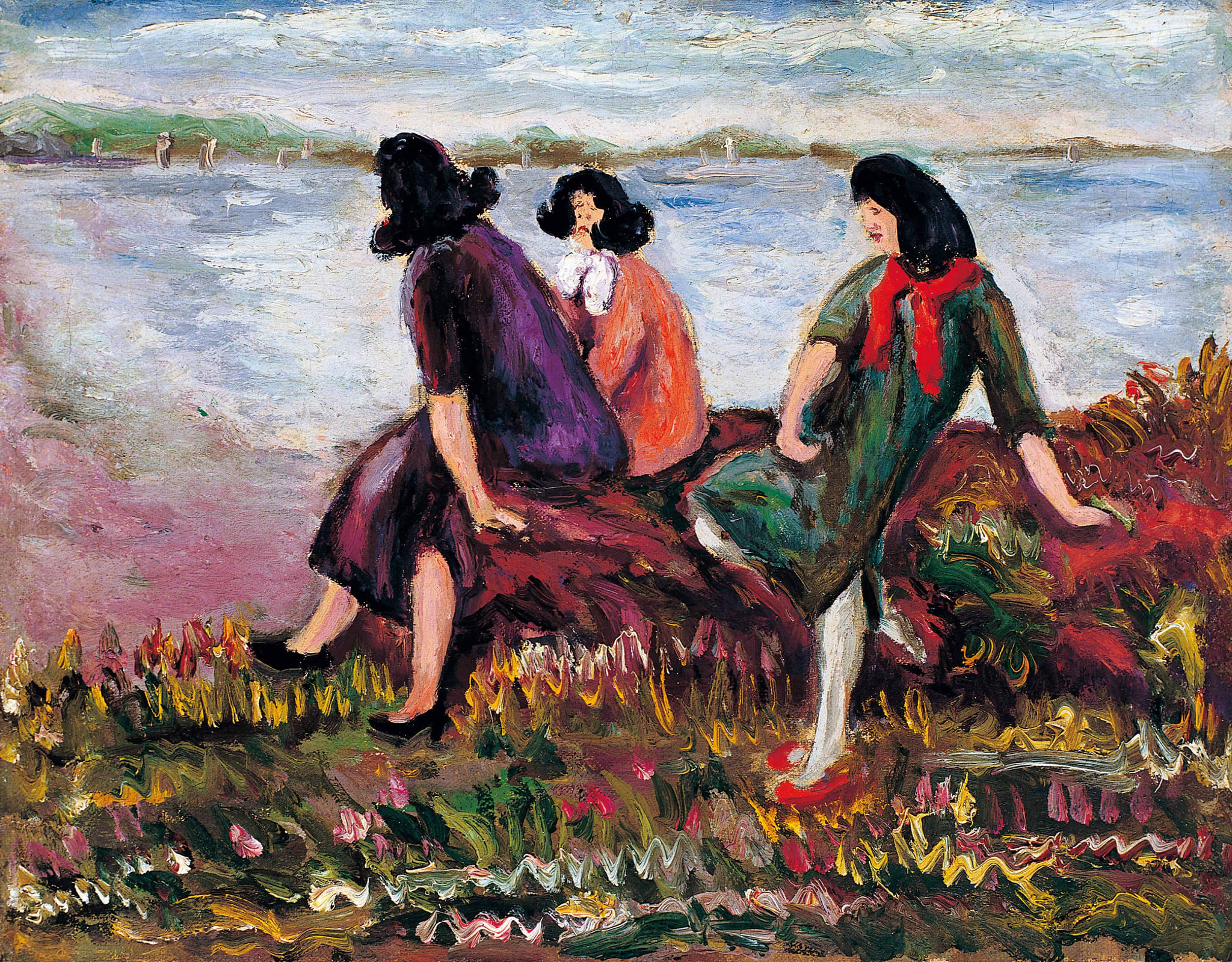Three Beauties by the Sea by Chen Cheng-po