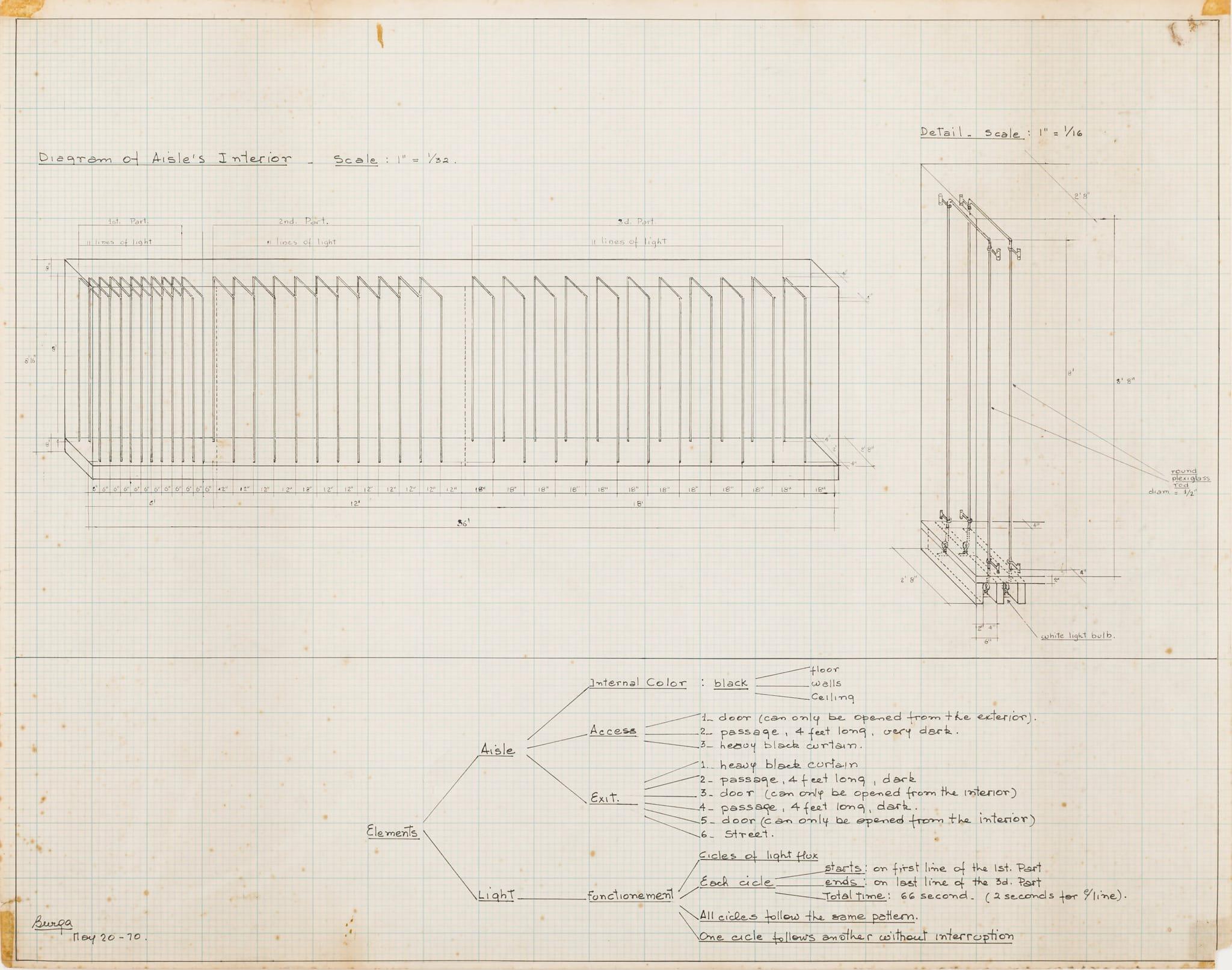 Diagram of Aisle Interior by Teresa Burga