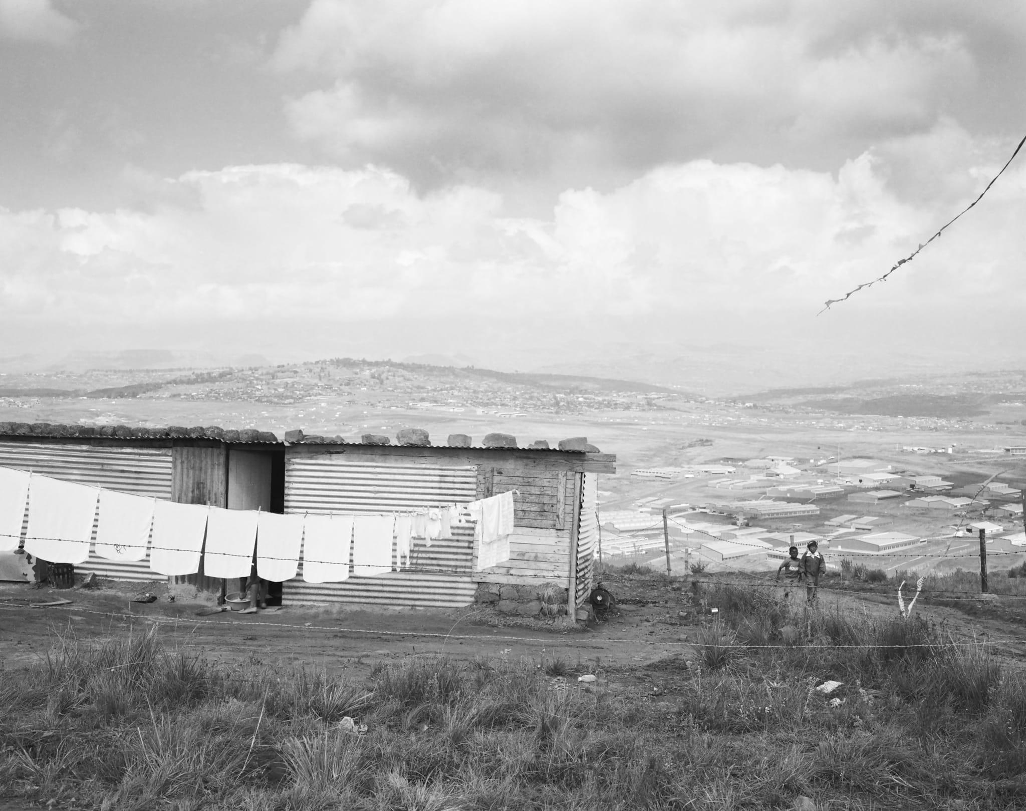 Structures: Kite flying near Phuthaditjhaba, Qwa Qwa. 1 May 1989 by David Goldblatt