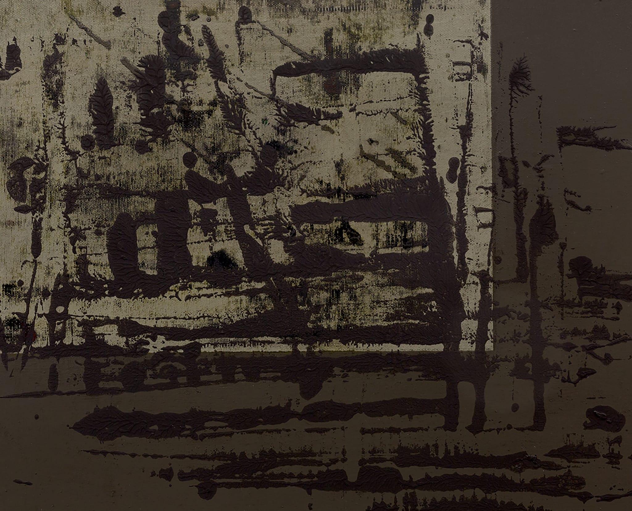 Cornerfield Painting XXXVI (Death of a Black Snake II) by Helmut Federle