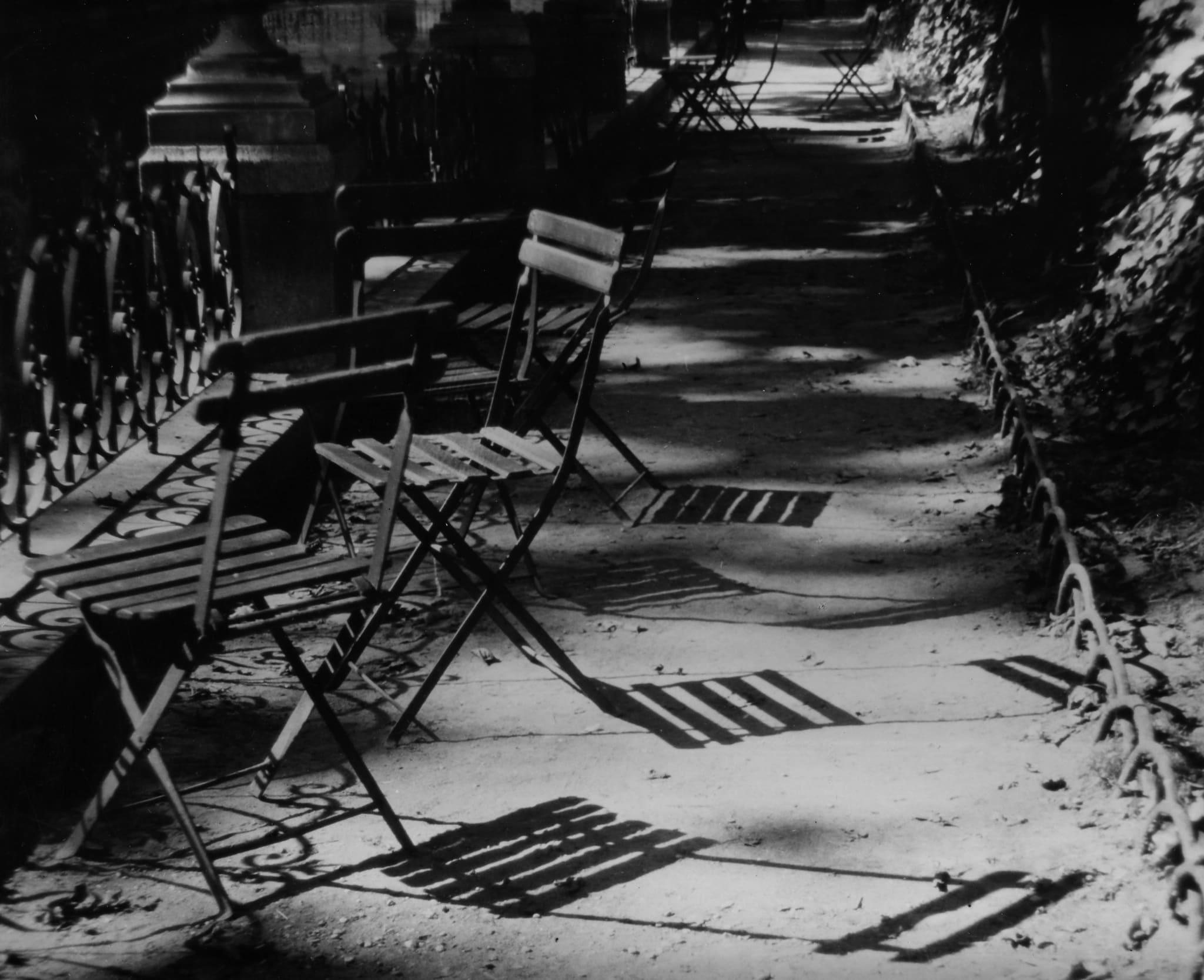 Chairs, The Medici Fountain, Paris by André Kertész