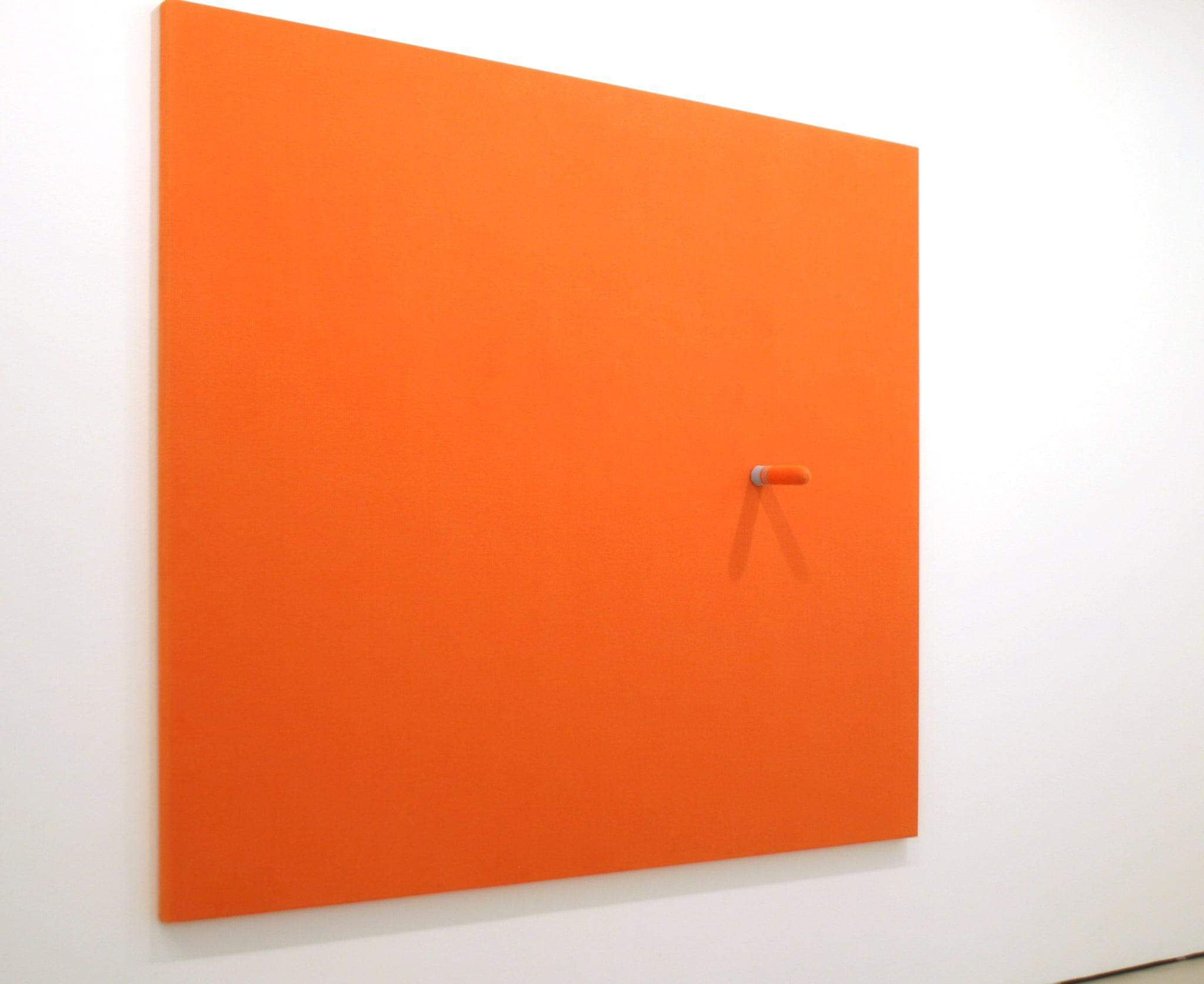 Stand Orange by Erwin Wurm