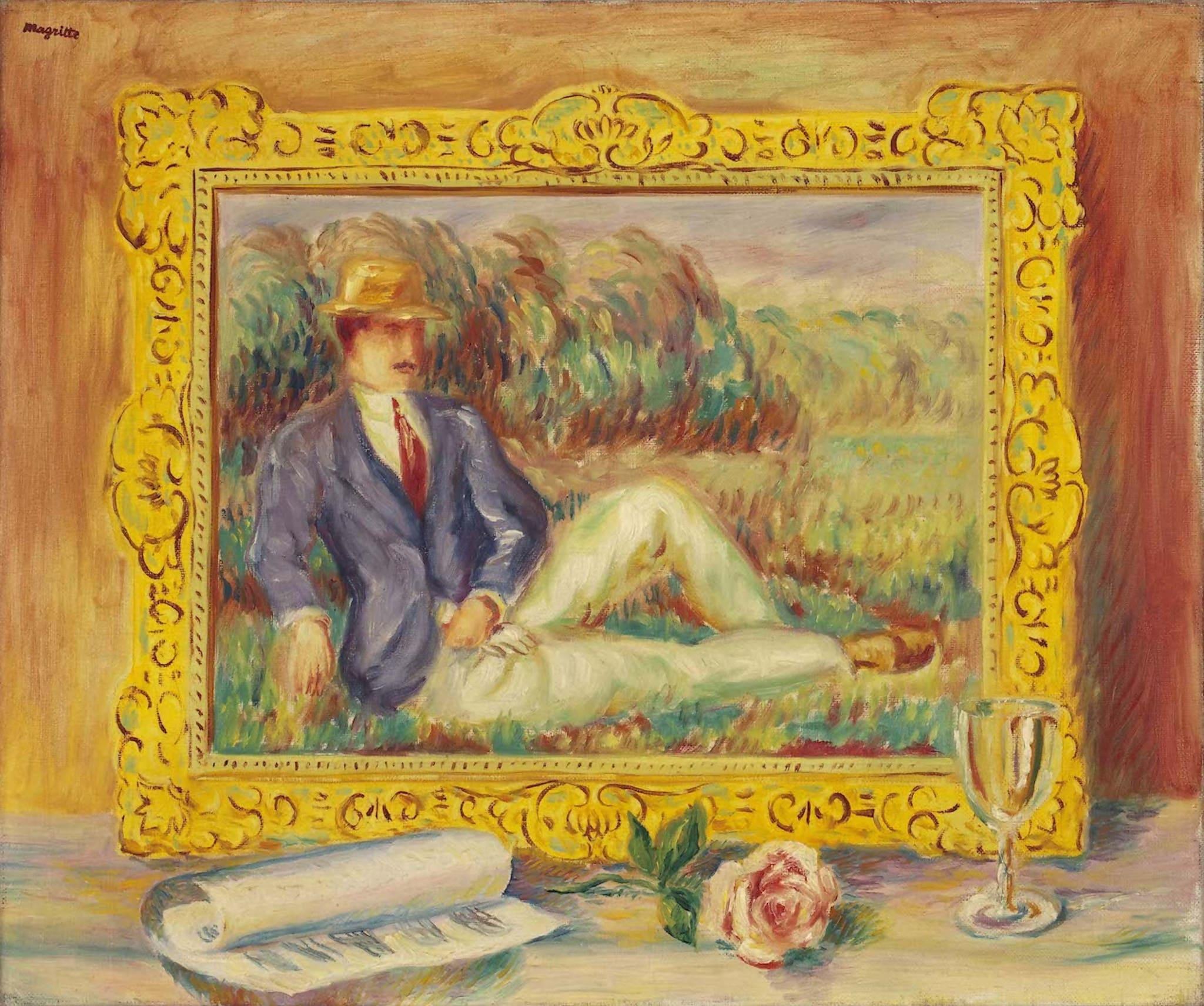 Les adieux by René Magritte