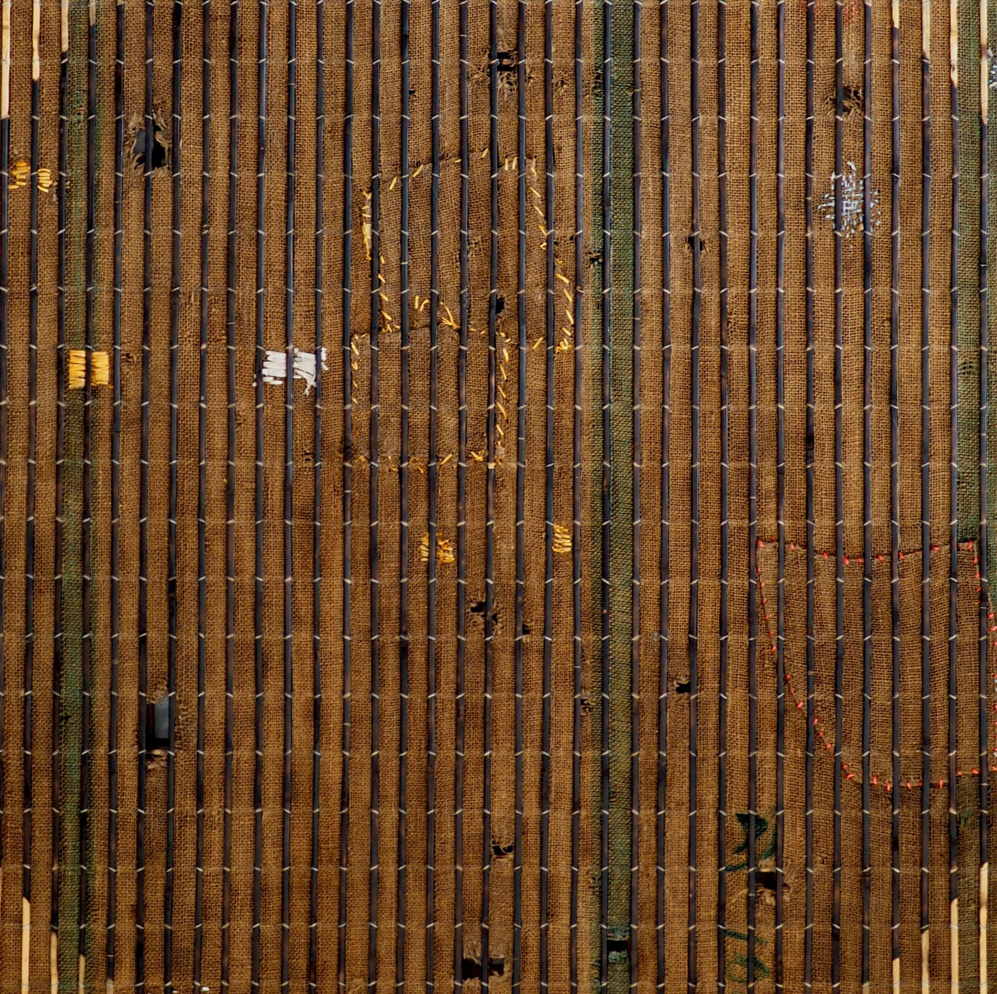 Green Stripes in Dark Circle by Sopheap Pich