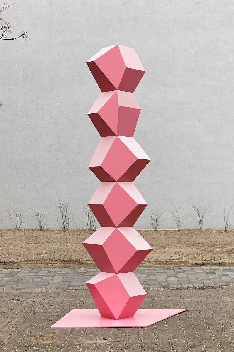 Heavy Metal Stack Of Six (Pink) by Angela Bulloch