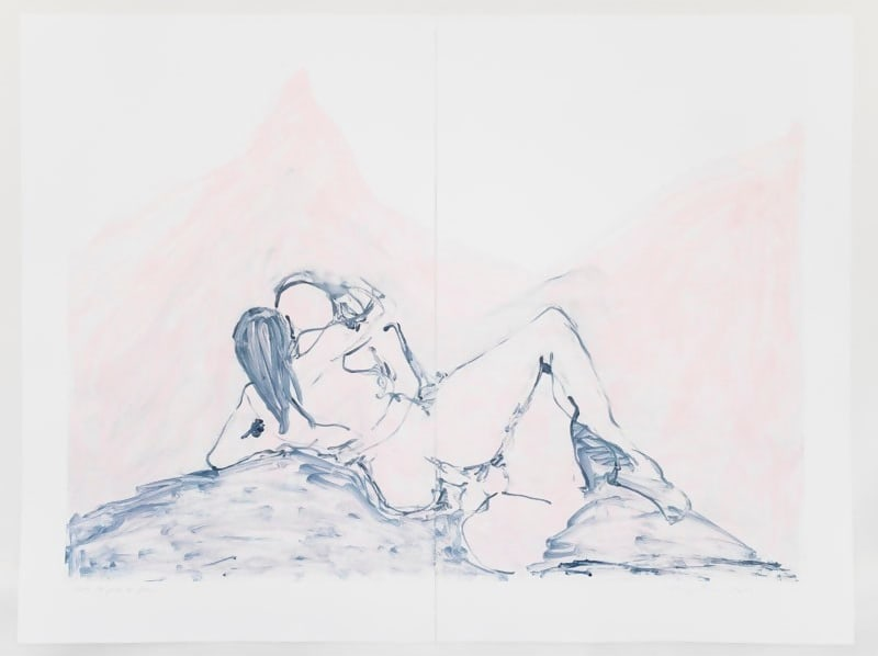 Into the Pink and Blue by Tracey Emin