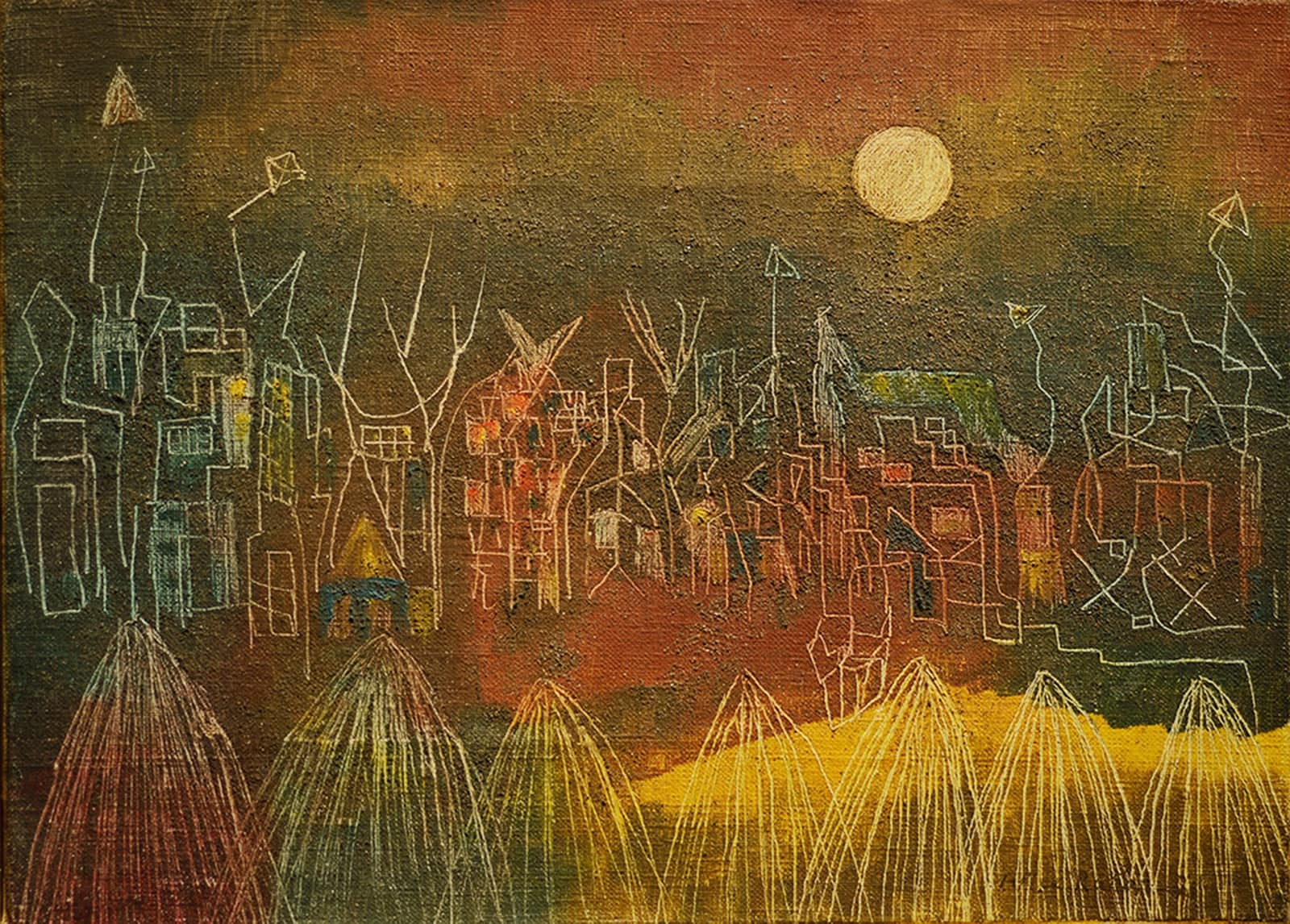 Village Abandoned to the Ghosts, 1948 by Alice Rahon