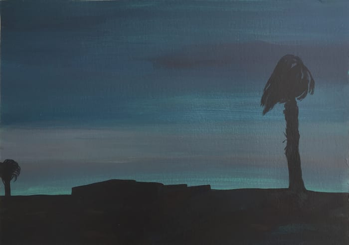 The Moon is Rising by Farida El Gazzar