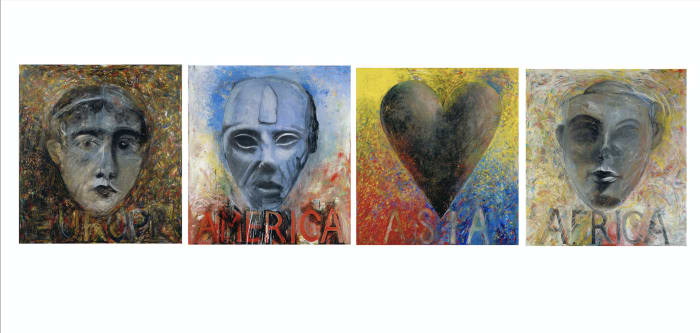 Four Continents by Jim Dine