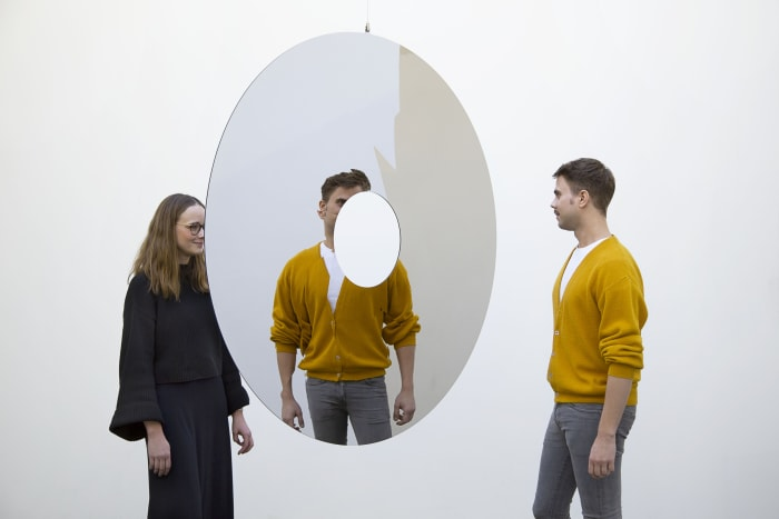 Rotating Mirror IX by Jeppe Hein