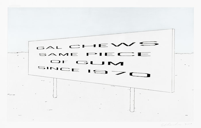 Lonely Highway by Ed Ruscha