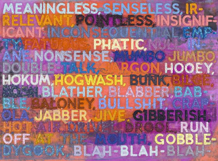 Meaningless by Mel Bochner