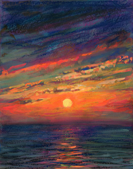 Last Sunset of The Summer by TM Davy