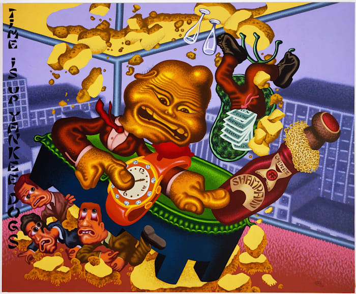 Chinese Businessman Lands on Wall Street by Peter Saul