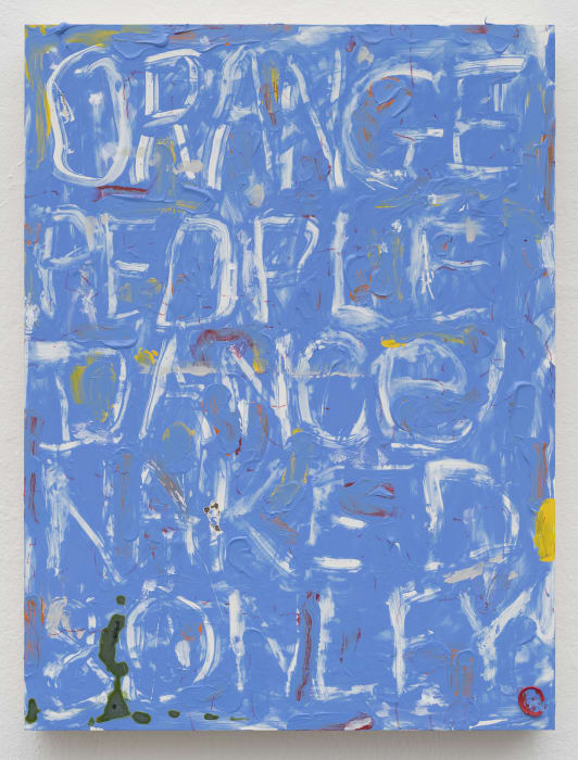 Blue Painting with Words and Other Things by Pope.L