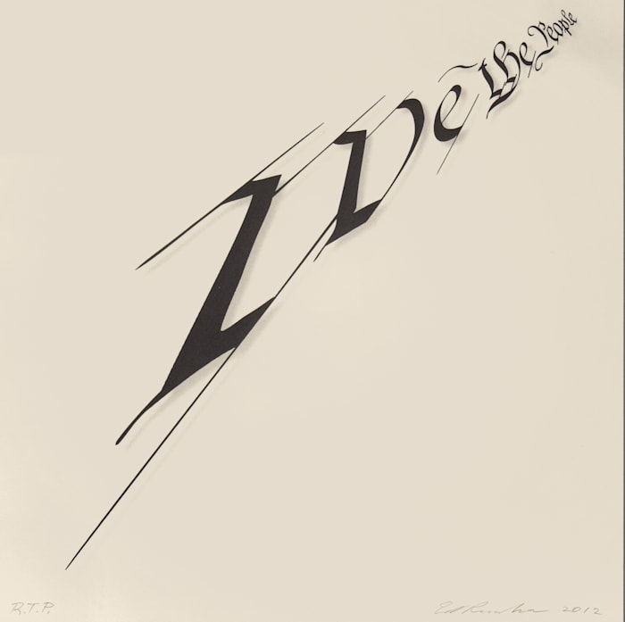 We the People by Ed Ruscha