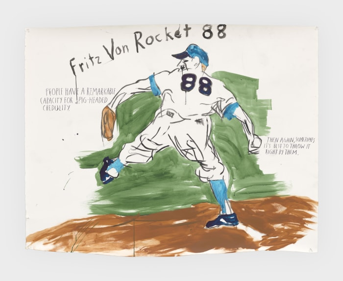 No Title (Fritz Von Rocket...) by Raymond Pettibon