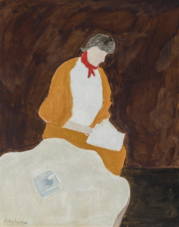 Red Kerchief by Milton Avery