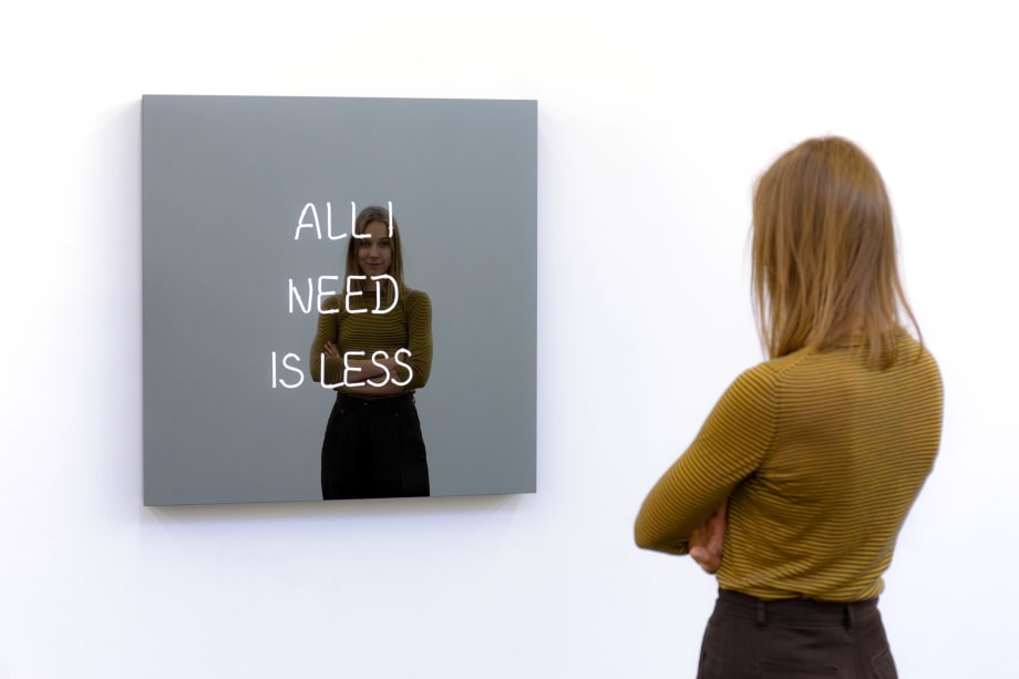 All I Need Is Less by Jeppe Hein
