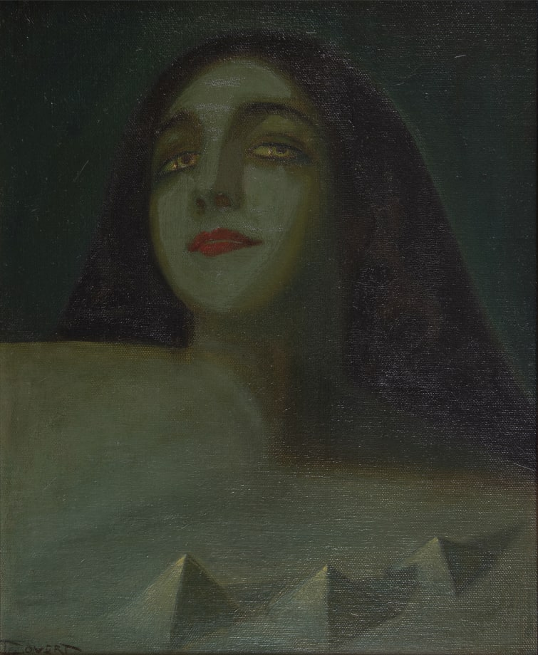 Woman with Pyramids by John Covert