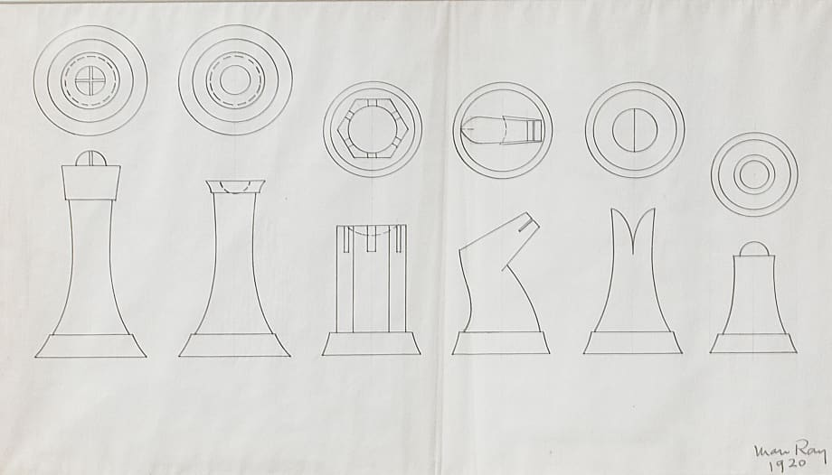 Design for Chess Pieces by Man Ray