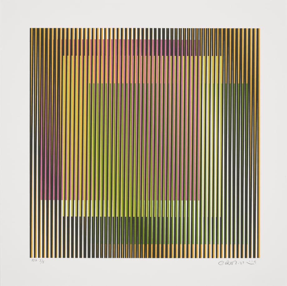 Induction chromatique à double Fréquence 3 by Carlos Cruz-Diez