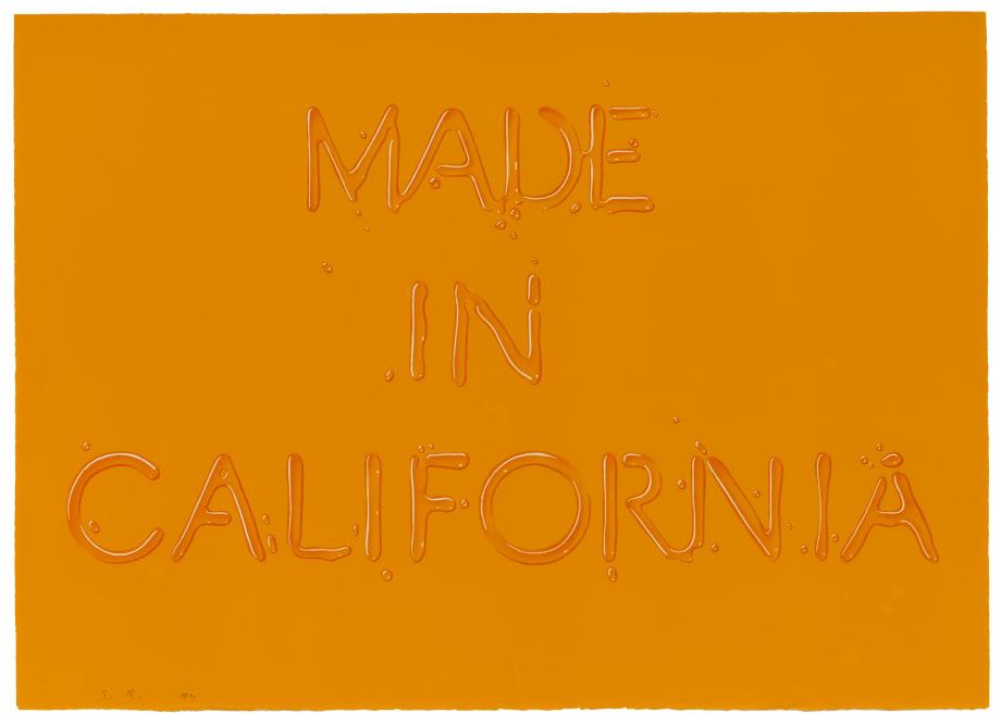 Made in California by Edward (Ed) Ruscha
