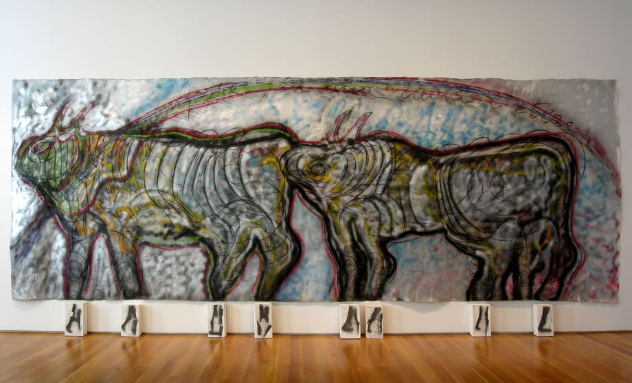 Bisonti (Se la forma scompare, la sua radice è eterna) by Mario Merz