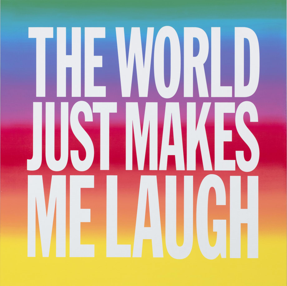 THE WORLD JUST MAKES ME LAUGH by John Giorno
