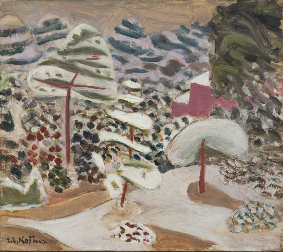 Garden in Snow by Zenzaburo Kojima