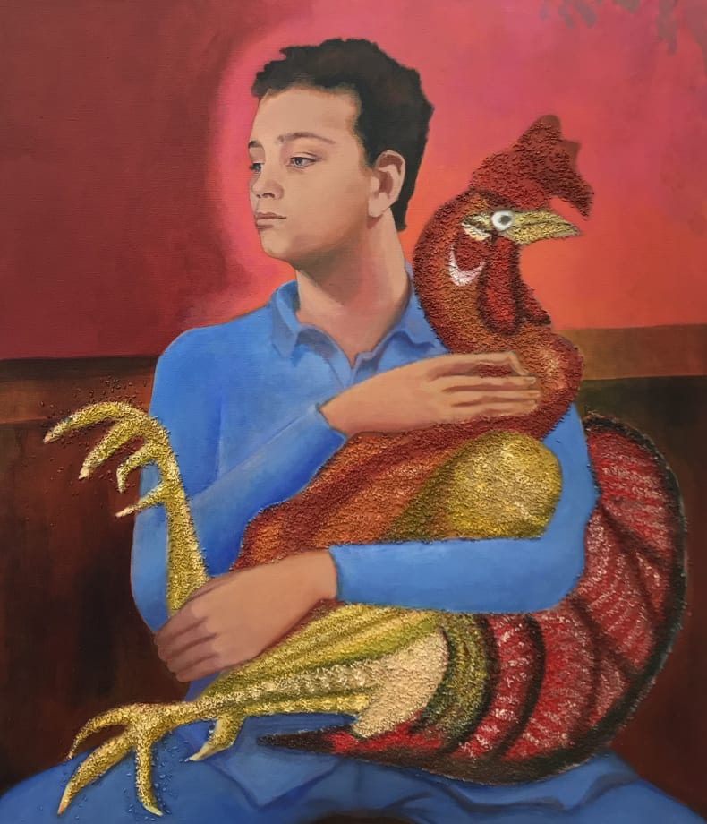 Boy with Cock by Allison Katz