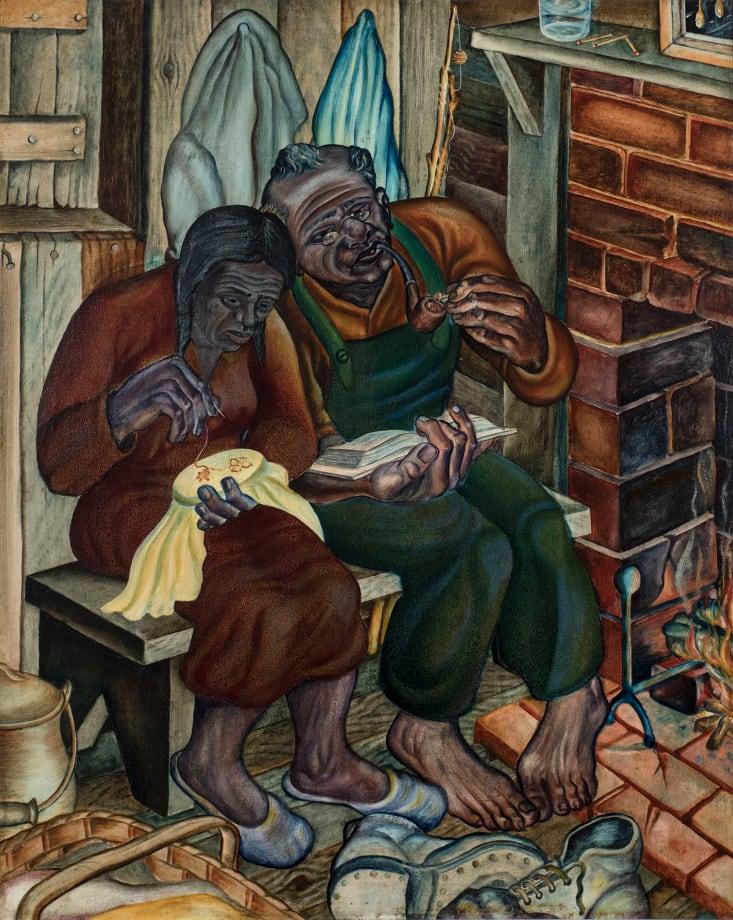 Old Couple (aka Home Sweet Home) by John Biggers