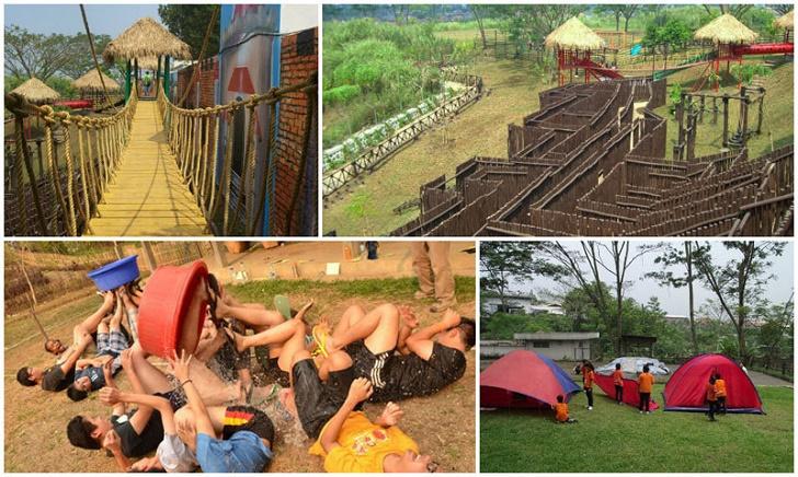 Spice Camp salah satu tempat wisata anak di Bandung