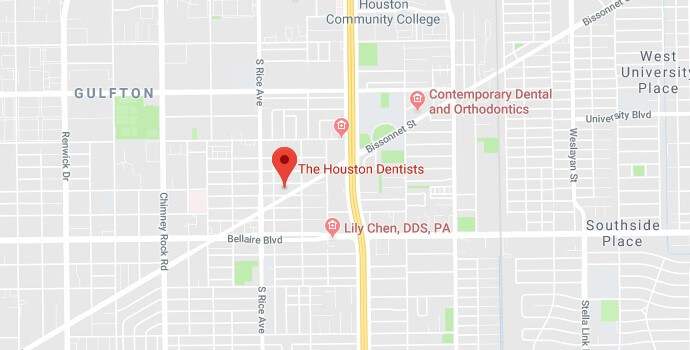 The houston dentist map image