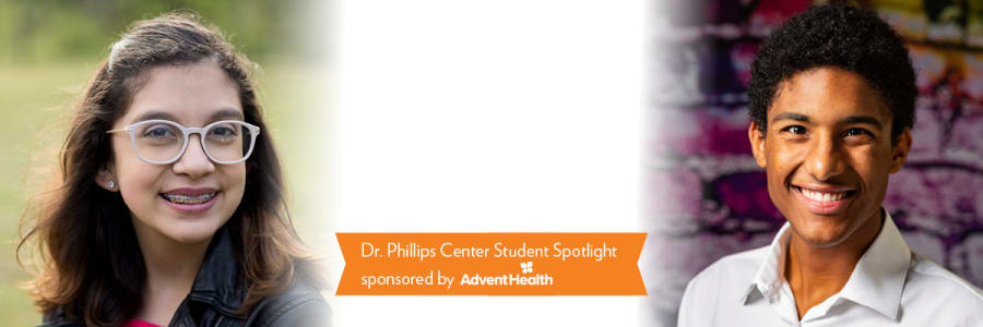 Ana Tew Diego Cintron Riveria Dr. Phillips Center student AdventHealth School of the Arts