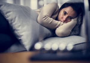Depressed woman with Insomnia