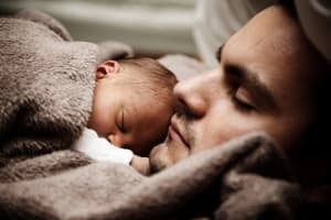 father-and-child-sleeping