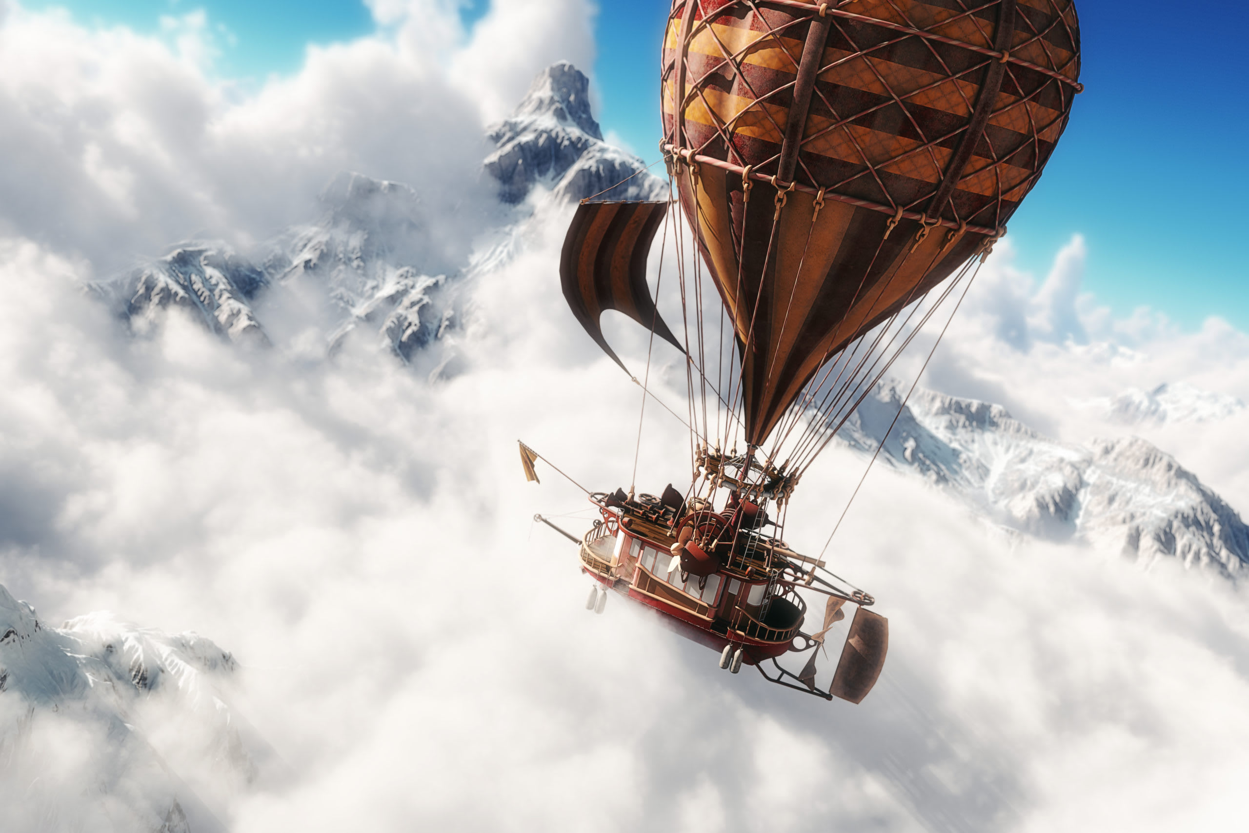 Soaring through the clouds in your dreams