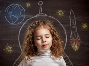 Child Sleeping Creative Dreaming