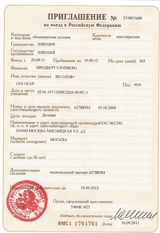 Бланки документов для оформления приглашения иностранных граждан