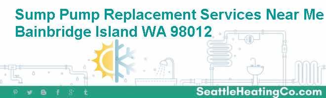 Sump Pump Replacement Services Near Me Bainbridge Island WA 98012