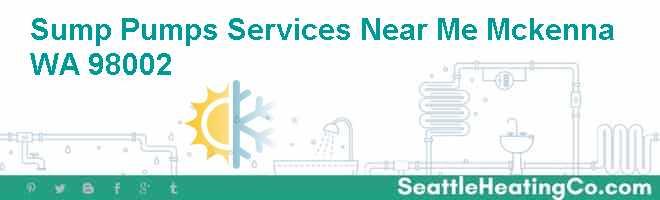 Sump Pumps Services Near Me Mckenna WA 98002