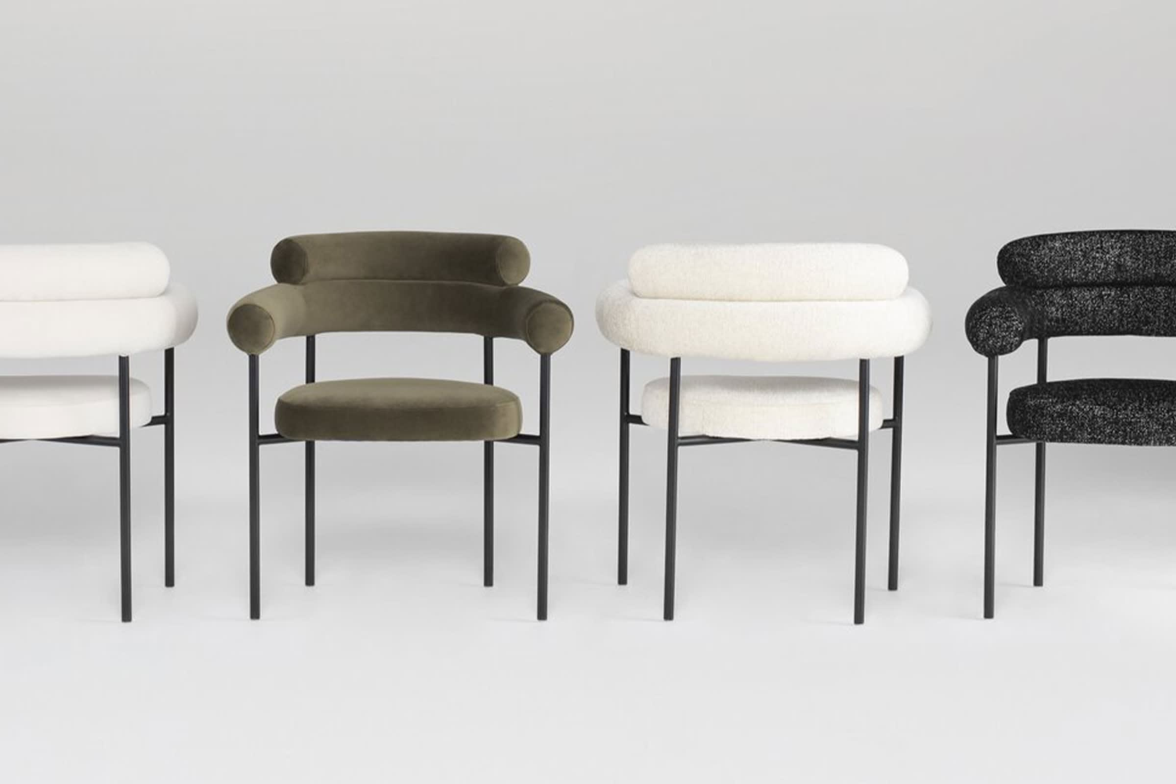 Chair by Nuevo Furniture in assorted colors