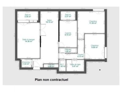 Fontaine - 4 pièce(s) - 75.02 m2 - Rez de chaussée
