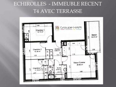 Grenoble - 4 pièce(s) - 75 m2