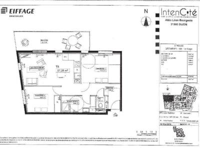 Appartement neuf Dijon - 3 pièce(s) - 57.28 m2