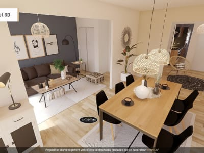 Appartement 3 pièces de 57 m² à Saint-Laurent-du-Var