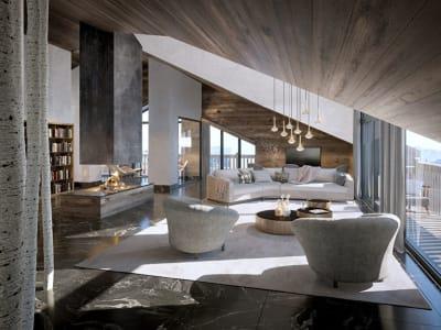 Emplacement N°1 - Appartement neuf 'Penthouse' sur le toit -  su